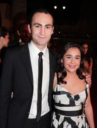 Khalid Abdalla and Atossa Leoni at the premiere of