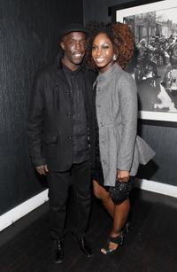 Michael K. Williams and Shae Twitty at the New York premiere of