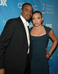Duane Martin and Tisha Campbell at the 38th NAACP Image Awards nominees luncheon.