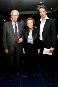 George Martin, his wife and son Donald at the gala premiere of