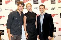 Shane McRae, Tracey Trachta and Nick Reynolds at the Vogue/Lenovo Media Lounge 2011 in New York.