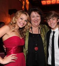 Carissa Capobianco, Margo Martindale and Sean Michael Cunningham at the premiere of