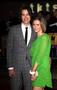 Tom Wisdom and Guest at the world premiere of