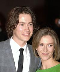 Tom Wisdom and Emma Lynley at the world premiere of