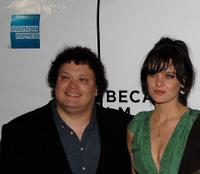 Adrian Martinez and Frankie Shaw at the premiere of