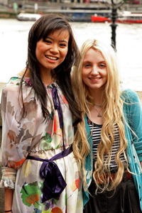 Katie Leung and Evanna Lynch at the photocall of