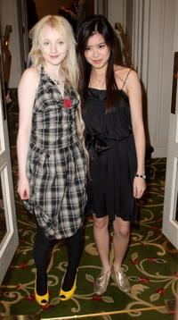 Evanna Lynch and Katie Leung at the Sony Ericsson Empire Awards 2008.