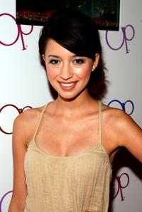 Christian Serratos at the launch of the new Op Advertising Campaign Party.