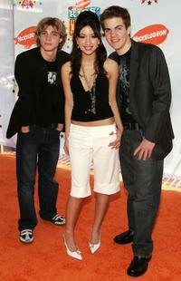Alex Black, Christian Serratos and Kyle Swann at the 19th Annual Kid's Choice Awards.