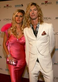 Susan Holmes and Duff McKagan at the Clive Davis Annual Grammy party.