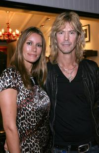 Susan Holmes and Duff McKagan at the Matt Sorum and Max Noce Opening party of Sorum Noce fashion store.
