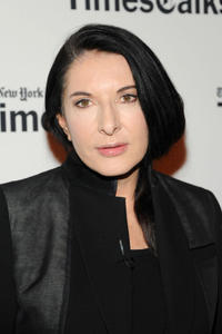Marina Abramovic at the TimesCenter in New York.