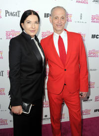 Marina Abramovic and writer John Waters at the 2013 Film Independent Spirit Awards.