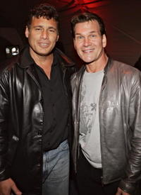 Steven Bauer and Patrick Swayze at the after party of