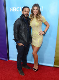 Brandon Jay McLaren and Serinda Swan at the 2013 Winter TCA Tour in California.