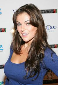 Serinda Swan at the Ante Up for Africa celebrity poker tournament during the World Series of Poker.