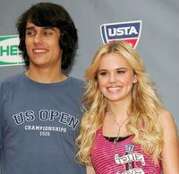 Teddy Geiger and Cheyenne Kimball at the Arthur Ashe Kid's Day.