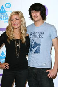 Kristin Cavalleri and Teddy Geiger at the photo call and press conference of MTV Australia Video Music Awards 2007.