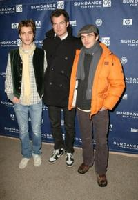Luke Grimes, Director Brett Simon and Vincent Piazza at the premiere of
