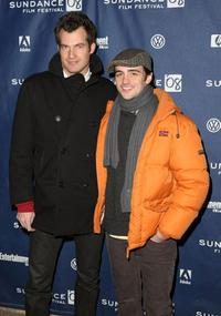 Brett Simon and Vincent Piazza at the premiere of