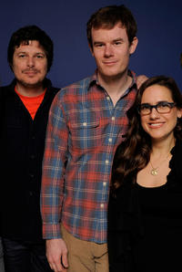 Kent Osborne, Joe Swanberg and Jennifer Prediger at the 2011 Sundance Film Festival in Utah.