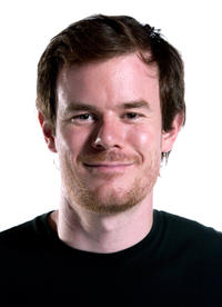 Director Joe Swanberg on the set of