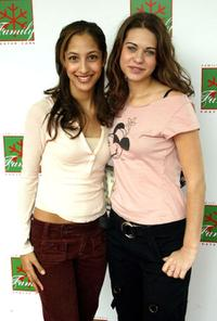 Christel Khaail and Lyndsy Fonseca at the Foster Care: Learning to look at Family in a New Way event.