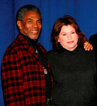 Andre De Shields and Marsha Mason at the meet-and-greet for the Off-Broadway show