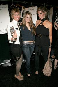 Sarah-Jane Clarke, Joanna 'Jojo' Levesque and Heidi Middleton at the Sass and Bide Spring 2007 fashion show during the Olympus Fashion Week.
