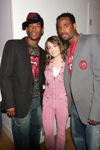 Marlon Wayans, Joanna 'Jojo' Levesque and Shawn Wayans at the MTV's Total Request Live.