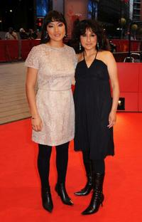 Magaly Solier and Pilar Guerrero at the premiere of