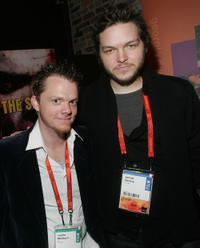 Justin Welborn and director Jacob Gentry at the Airborne Lounge during the 2007 Sundance Film Festival in Utah.