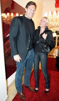 Ralf Moeller and Vanessa Gleitsmann at the launch of new perfume