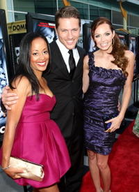Essence Atkins, Ross Thomas and Christina Murphy at the premiere of
