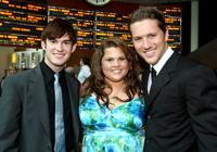 Brennan Hillard, Chelsea Makela and Ross Thomas at the premiere of