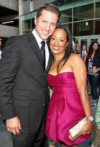 Ross Thomas and Essence Atkins at the premiere of