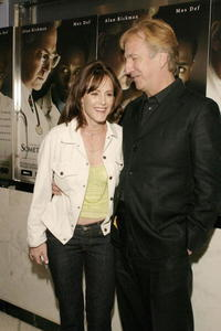 Mary Stuart Masterson and Alan Rickman at the premiere of