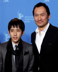 Kazunari Ninomiya and Ken Watanabe at the photocall to promote
