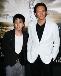 Kazunari Ninomiya and Tsuyoshi Ihara at the photocall to promote