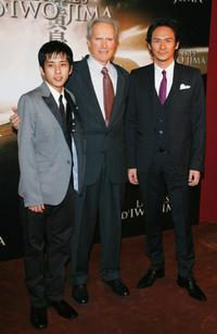Kazunari Ninomiya, Director Clint Eastwood and Tsuyoshi Ihara at the premiere of