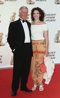 Pat O'Connor and Mary Elizabeth Mastrantonio at the closing ceremony of the 46th annual Monte Carlo Television Festival in Monaco.