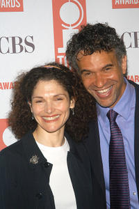 Mary Elizabeth Mastrantonio and Brian Stokes Carmichael at the Tony Awards Nominee Luncheon in New York.