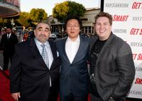 Ken Davitian, Masi Oka and Nate Torrence at the world premiere of
