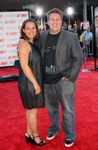 Nate Torrence and Guest at the world premiere of