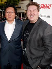 Masi Oka and Nate Torrence at the world premiere of
