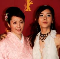 Keiko Matsuzaka and Harisu at the photocall of