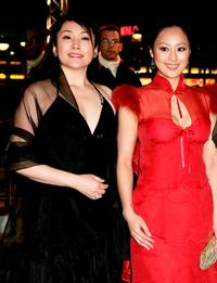 Keiko Matsuzaka and Teresa Cheung at the premiere of