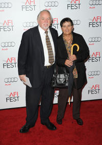 Dakin Matthews and Guest at the California premiere of