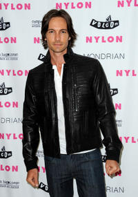 Nick Steele at the NYLON August Denim Issue Launch party in California.