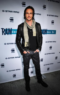 Nick Steele at the G-Star Rodeo Drive Store Opening in California.